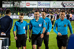 Refere Damir Skomina and his asistants after football match between NŠ Mura and NK Maribor in semifinal Round of Pokal Telekom Slovenije 2018/19, on April 24, 2019 in Fazanerija, Murska Sobota, Slovenia. Photo by Blaž Weindorfer / Sportida