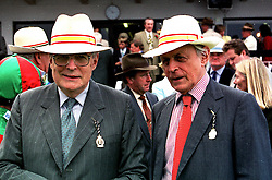 Left to right, the DUKE OF RICHMOND & GORDON and his brother LORD NICHOLAS GORDON-LENNOX, at a race meeting in Sussex on 4th August 2000.OGO 42
