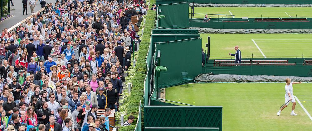 WIMBLEDON - UK - 27th June 2016: The Wimbledon Tennis Championships start at the All England Lawn Tennis Association, Wimbledon. S.E. London.<br /> &copy;Exclusivepix Media