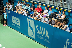 Spectators during mens final of Zavarovalnica Sava tournament at ATP Challenger Zavarovalnica Sava Slovenia Open 2019, day 2, on August 10th 2019 in Sports centre, Portoroz/Portorose, Slovenia. Photo by Grega Valancic / Sportida