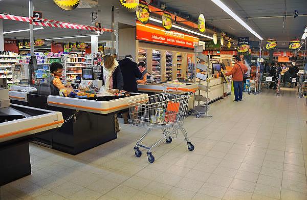 Nederland, Nijmegen, 28-2-2011Interieur winkel Supermarkt C1000.Foto: Flip Franssen/Hollandse Hoogte