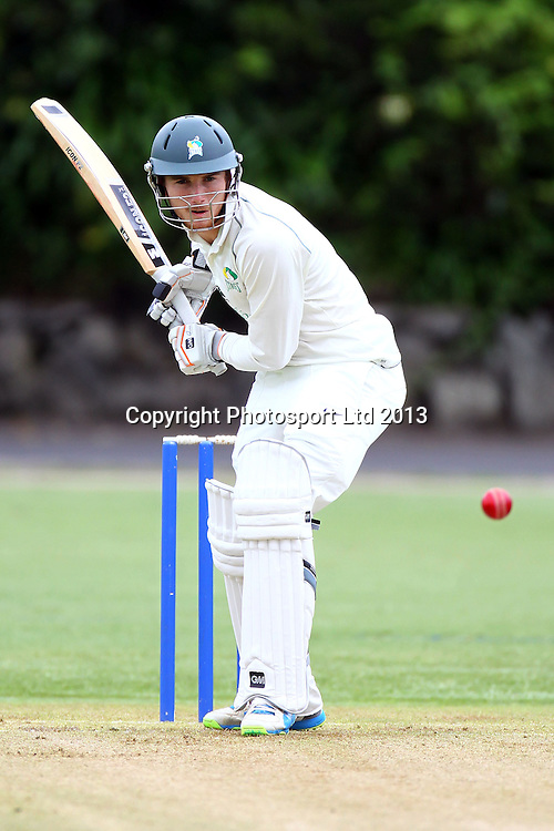 Central's Ben Smith, Plunket Shield domestic cricket, Auckland Aces v Central Stags, Eden Park outer oval, Auckland. 6 December 2013. Photo: William Booth/www.photosport.co.nz