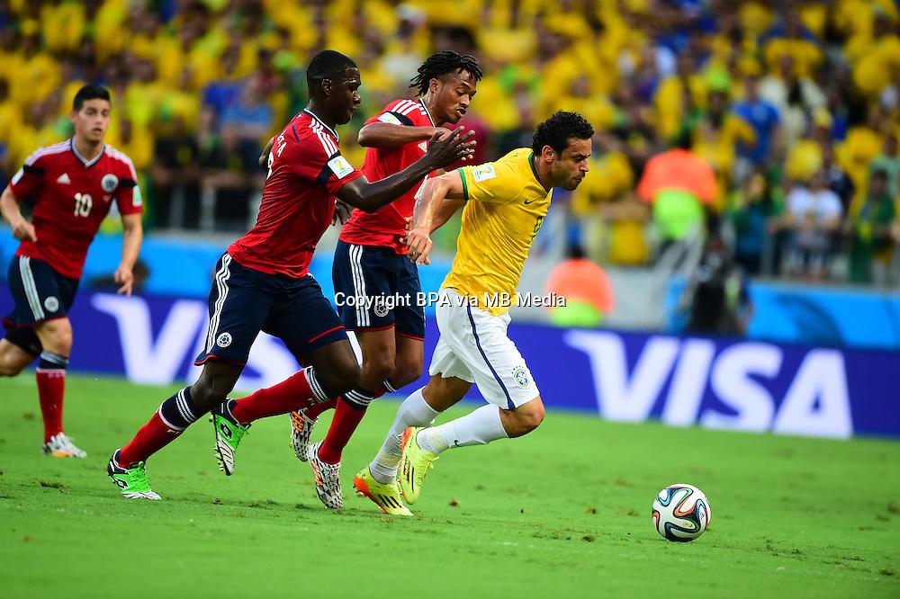 Fred. Brazil v Colombia, quarter-final. FIFA World Cup Brazil 2014. Castelao stadium, Fortaleza. 4 July 2014.
