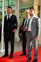 Damien DA SILVA / Julian PALMIERI / Bernard CAIAZZO - 17.05.2015 - Ceremonie des Trophees UNFP 2015<br /> Photo : Nolwenn Le Gouic / Icon Sport