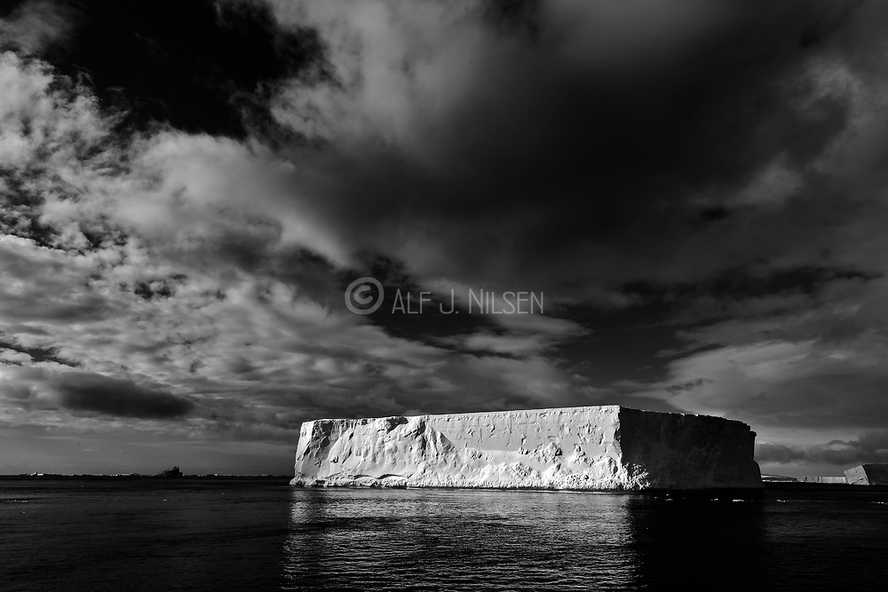 Table-shaped iceberg in the Antarctic Sound, northern tip of the Antarctic Peninsula