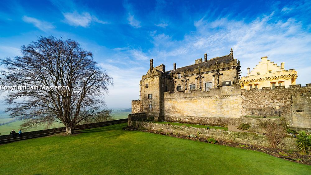 Stirling Castle in Stirling , Scotland, UK