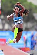 Caterine Ibarguen (COL) places sixth in the women's triple jump at 47-0 1/4 (14.33m) during the women's triple jump in the  Herculis Monaco in an IAAF Diamond League meet , Thursday, July 11, 2019, in Port Hercules, Monaco.(Jiro Mochizuki/Image of Sport)