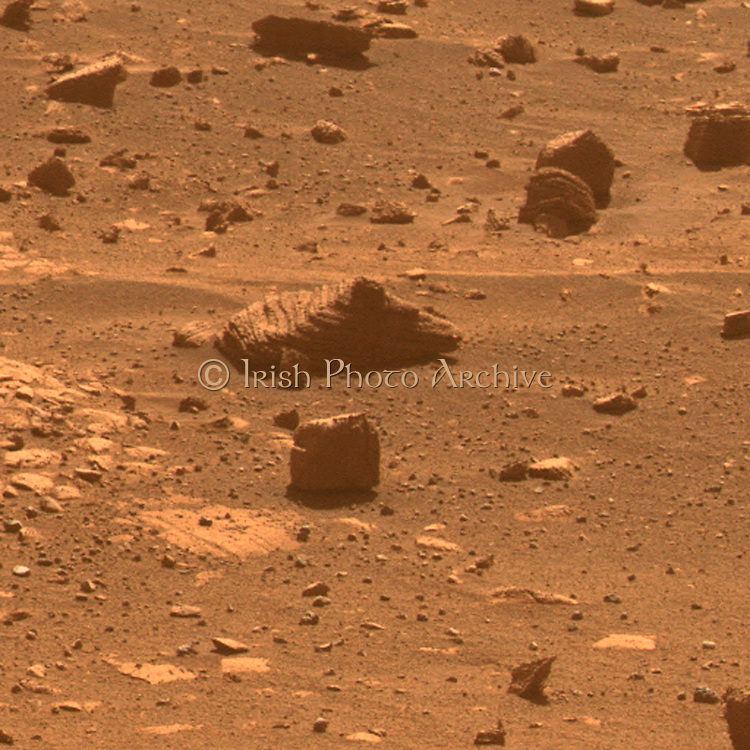 This view results from the first observation of a target selected autonomously by a spacecraft on Mars. Mars Exploration Rover.