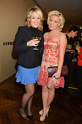 Left to right, sisters DANIELLE COYLE and NATALIE COYLE at a party to celebrate the 15th anniversary of Myla held at the House of Myla, 8-9 Stratton Street, London on 21st October 2014.