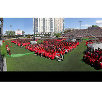 2016 Boston University Commencement captured in a high-resolution photography image.