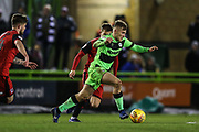 Forest Green Rovers George Williams(11) runs forward during the EFL Sky Bet League 2 match between Forest Green Rovers and Grimsby Town FC at the New Lawn, Forest Green, United Kingdom on 22 January 2019.