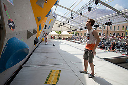 Ziga Zajc (SLO) at Semifinal of Climbing event - Triglav the Rock Ljubljana 2018, on May 19, 2018 in Congress Square, Ljubljana, Slovenia. Photo by Urban Urbanc / Sportida