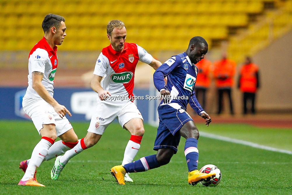 Lucas Ocampo / Valere Germain / Sabaly Youssouf  - 21.01.2015 - Monaco / Evian Thonon   - Coupe de France 2014/2015<br /> Photo : Sebastien Nogier / Icon Sport