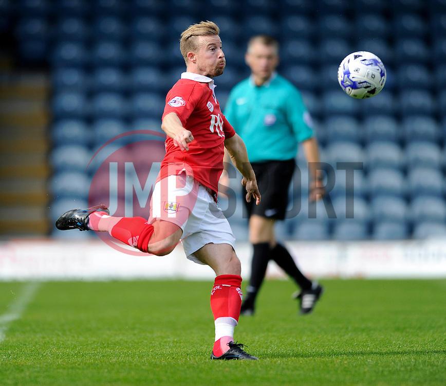 Bristol City's Wade Elliott shoots - Photo mandatory by-line: Dougie Allward/JMP - Mobile: 07966 386802 23/08/2014 - SPORT - FOOTBALL - Manchester - Spotland Stadium - Rochdale AFC v Bristol City - Sky Bet League One