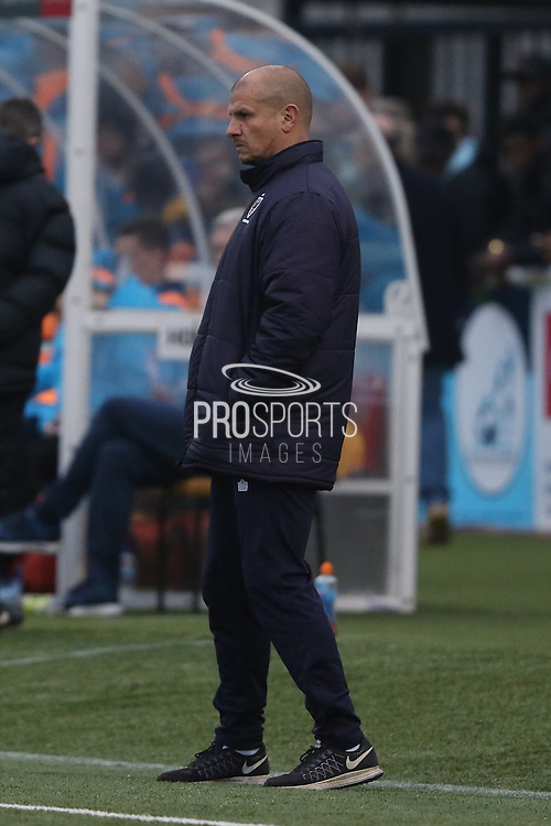 AFC Wimbledon assistant coach Neil Cox during The FA Cup match between Sutton United and AFC Wimbledon at Gander Green Lane, Sutton, United Kingdom on 7 January 2017. Photo by Stuart Butcher.