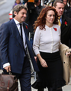 Rebekah Brooks  &amp; husband Charlie arrive at the Old Bailey on November 01, 2013.<br /> <br /> Brooks will stand trial alongside former managing editor Stuart Kuttner; former news editor Ian Edmondson; and Rebekah Brooks. All deny conspiracy to intercept mobile phone voicemail messages. Coulson and former NotW royal editor Clive Goodman deny charges of conspiracy to commit misconduct in a public office. Brooks also denies two charges of this. She also faces charges of conspiracy to pervert the course of justice, along with former personal assistant Cheryl Carter, 49, husband Charlie Brooks, 50, and NI head of security Mark Hanna, 50. <br /> Photo Ki Price