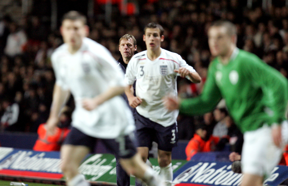 New England Under-21 coach Stuart Pearce looks on. England v Republic of Ireland, Uefa Under-21 Championship Qualifier, Tuesday 5th February 2008, St Marys, Southampton.