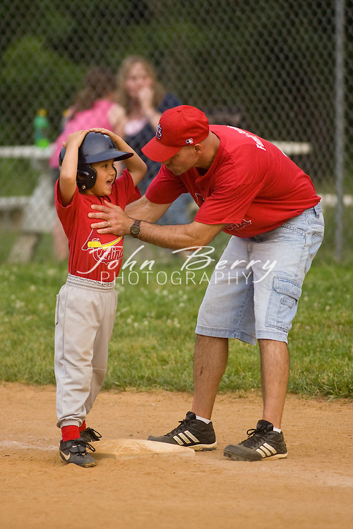 Madison Parks and Rec Baseball.Rookies--Marlins vs Cardinals.6/1/2007