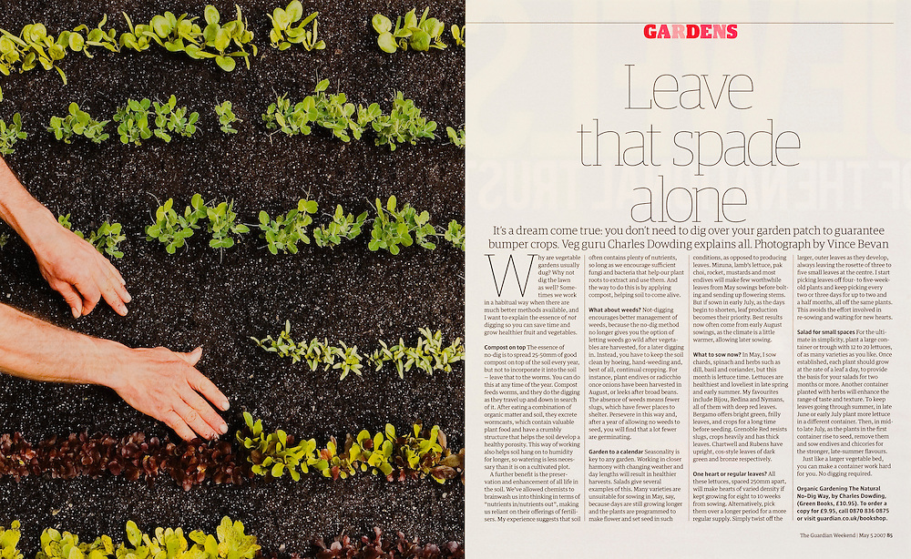 The gardener and author Charles Dowding, commissioned by GUARDIAN WEEKEND MAGAZINE.
