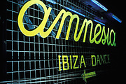 Amnesia nightclub sign, Ibiza 1999