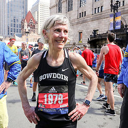 Boston Marathon<br /> Joan Benoit Samuelson after she finishes the Boston Marathon