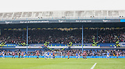 Sheffield United fans in the Leppings Lane stand during the EFL Sky Bet Championship match between Sheffield Wednesday and Sheffield Utd at Hillsborough, Sheffield, England on 24 September 2017. Photo by Phil Duncan.