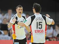 Handball EM Herren 2010 Vorrunde Deutschland - Polen 19.01.2010 Michael Kraus (links) und Torsten Jansen (rechts beide GER) jubeln