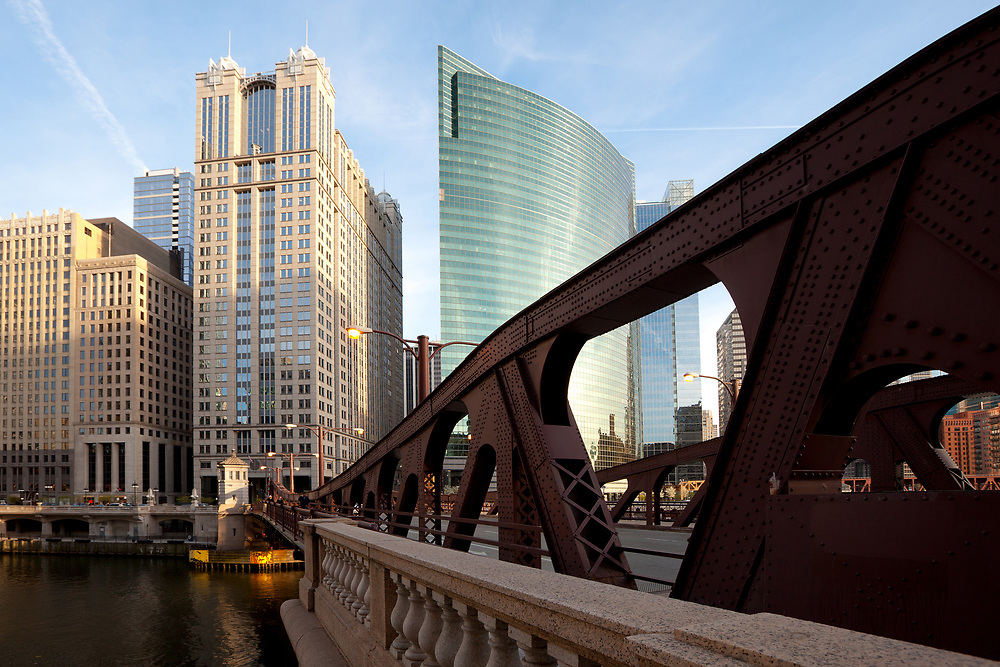 Bridge over Chicago River, Chicago, Illinois, USA