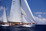 Mariella sailing in the Antigua Classic Yacht Regatta, Cannon Race.