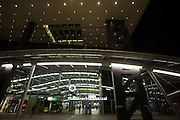 Station Utrecht Centraal in de avond.<br /> <br /> Utrecht Central Station at noon.
