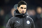 Manchester City Assistant Coach Mikel Arteta during the Premier League match between Burnley and Manchester City at Turf Moor, Burnley, England on 3 December 2019.