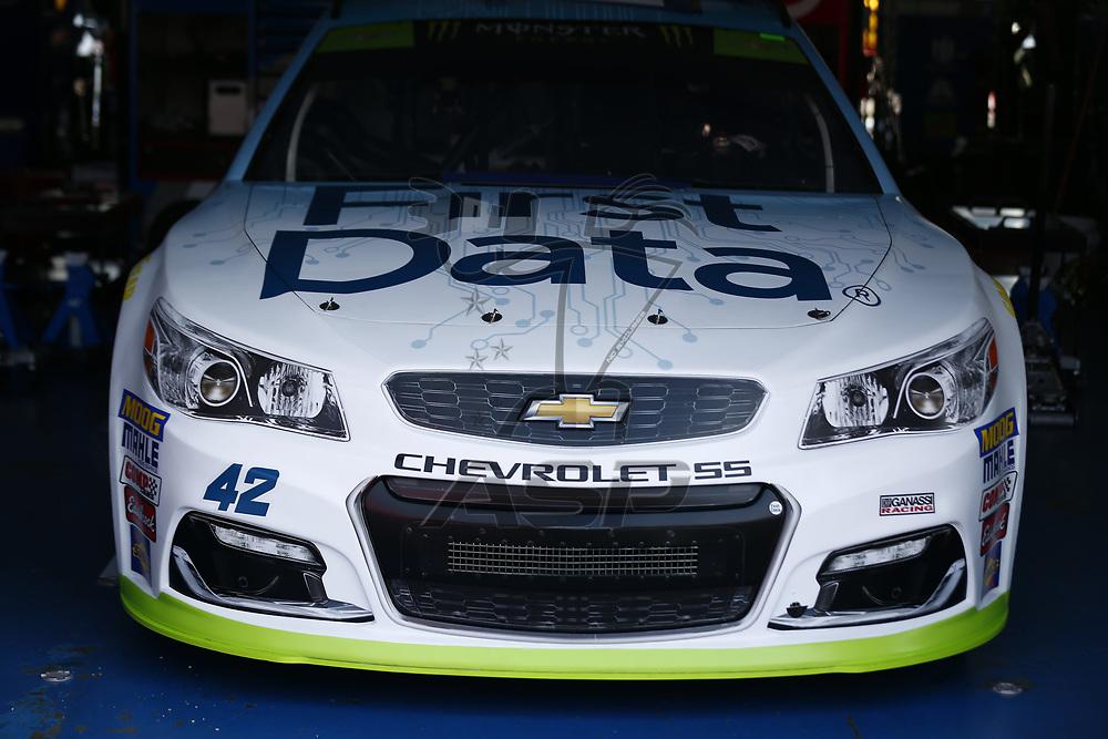 October 13, 2017 - Talladega, Alabama, USA: The Monster Energy NASCAR Cup Series teams take to the track to practice for the Alabama 500 at Talladega Superspeedway in Talladega, Alabama.