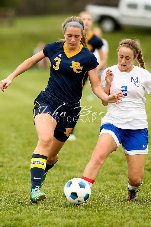 April 01, 2016.  <br /> MCHS Varsity Girls Soccer vs Rappahannock