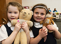 18/01/2018 Lily McIntyre and Shin Ward Uacthar Ard with teddies,  at the Teddy Bear Hospital at NUI Galway.Students get used to dealing with Kids and Kids get a Hospital experience with a difference. Photo:Andrew Downes, XPOSURE