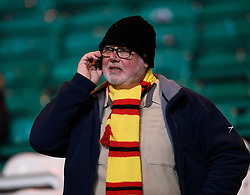 Patrick Thistle fan before the Scottish Premiership match at Celtic Park, Glasgow. PRESS ASSOCIATION Photo. Picture date: Wednesday December 20, 2017. See PA story SOCCER Celtic. Photo credit should read: Ian Rutherford/PA Wire. RESTRICTIONS: EDITORIAL USE ONLY