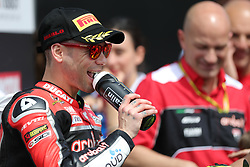 May 11, 2019 - Imola, Bologna, Italy - Alvaro Bautista of ARUBA.IT Racing - Ducati during the Superbike World Championship, Italian Round at Autodromo di Imola on May 11, 2019 in Imola, Italy. (Credit Image: © Emmanuele Ciancaglini/NurPhoto via ZUMA Press)