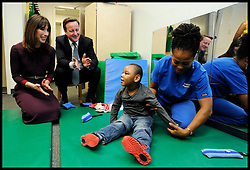 Prime Minister David Cameron and his wife Samantha visit The National Children's Centre in Washington, Wednesday March 14, 2012 . Photo By Andrew Parsons/ i-Images