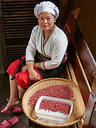 Laos. Luang Say Cruise on the Mekong. Luang Say Lodge. A chef at the restaurant.