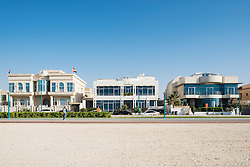 Luxury villas facing onto beach in Dubai United Arab Emirates