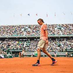 Alexander Zverev of Germany during Day 10 for the French Open 2018 on June 5, 2018 in Paris, France. (Photo by Anthony Dibon/Icon Sport)