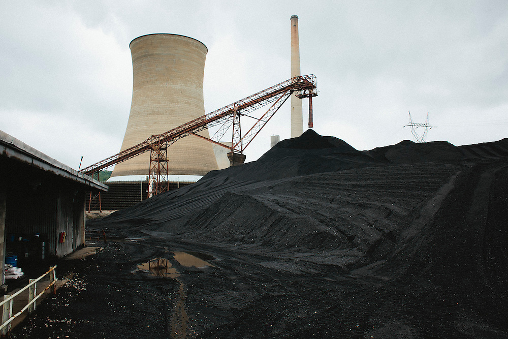 Coal is processed in the Big Sandy power plant near Louisa, Ky.