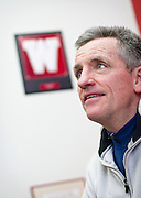 UW-Madison Women's Hockey coach Mark Johnson poses for a portrait in his office inside LaBahn Arena, Tuesday, January 6, 2015.
