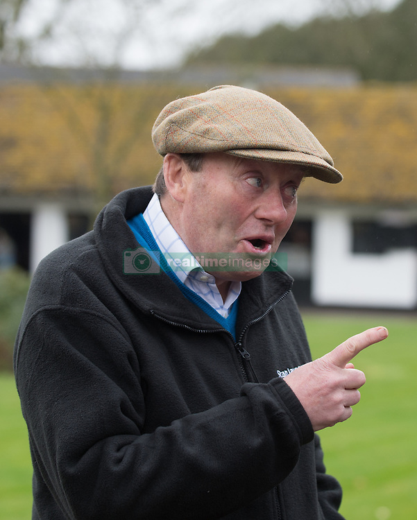 Trainer Nicky Henderson during a stable visit to his Seven Barrows Stables in Lambourn.