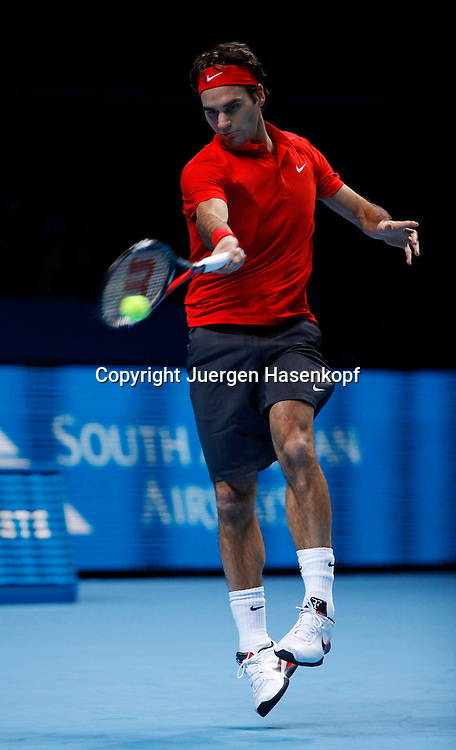 ATP World Tour Finals  2010 in der O2 Arena in London, HerrenTennis Turnier, WM, Weltmeisterschaft, Roger Federer (SUI),