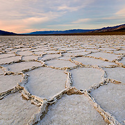 Salt Pans At Dusk - Death Valley, CA