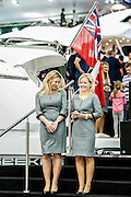 The Sunseeker stand. The London Boat Show opens at the Excel Centre, Docklands, London, UK 04 January 2014. Guy Bell, 07771 786236, guy@gbphotos.com