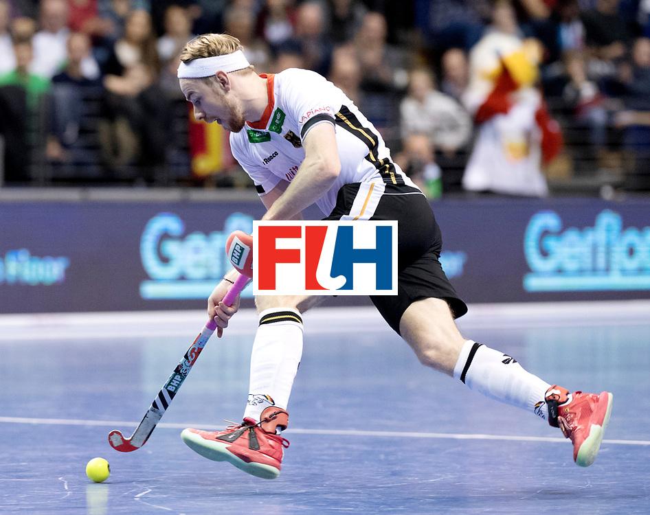 BERLIN - Indoor Hockey World Cup<br /> Quarterfinal 3: Germany - Switzerland<br /> foto: Christopher R&uuml;hr.<br /> WORLDSPORTPICS COPYRIGHT FRANK UIJLENBROEK