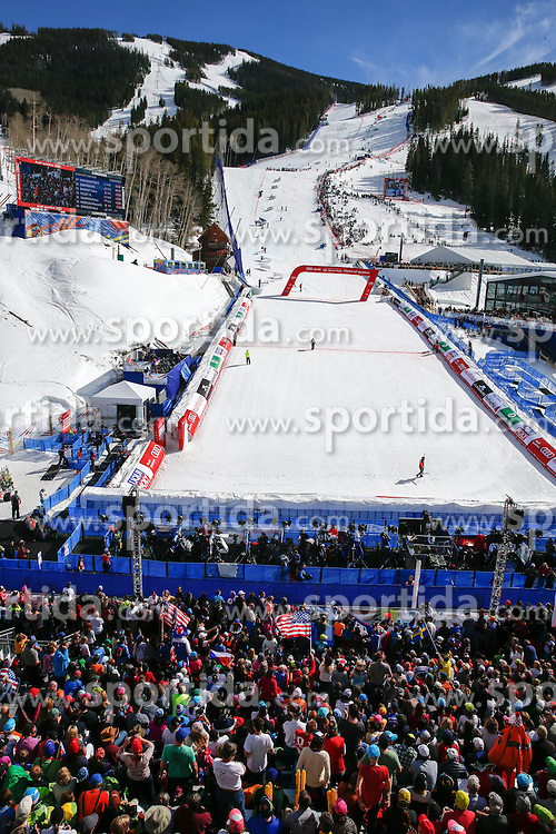 14.02.2015, Birds of Prey, Beaver Creek, USA, FIS Weltmeisterschaften Ski Alpin, Vail Beaver Creek 2015, Damen, Slalom, im Bild &Uuml;bersicht auf das Red Tail Stadion // Overview of the Red Tail Stadium during the ladie's Slalom of FIS Ski World Championships 2015 at the Birds of Prey in Beaver Creek, United States on 2015/02/14. EXPA Pictures &copy; 2015, PhotoCredit: EXPA/ SM<br /> <br /> *****ATTENTION - OUT of GER*****