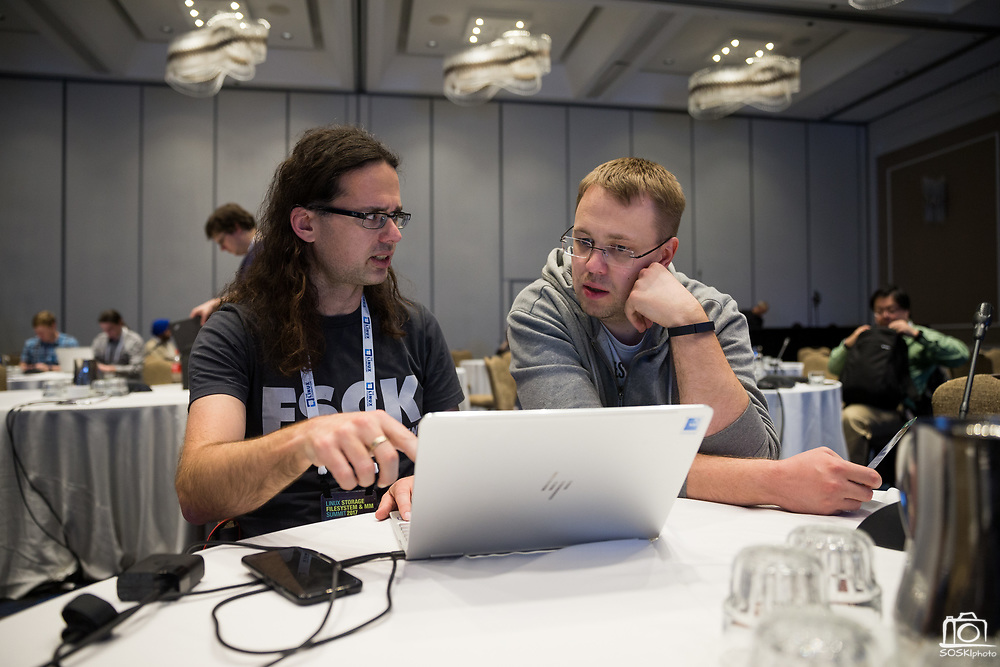 The Linux Foundation hosts its Linux Storage Filesystem & MM Summit 2017 at the Hyatt Regency Cambridge in Cambridge, Massachusetts, on March 20, 2017. (Stan Olszewski/SOSKIphoto)