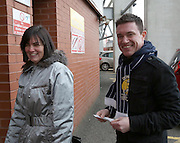 The first Dundee fans through the Celtic Park turnstiles - Celtic v Dundee,  at Celtic Park in the Clydesdale Bank Scottish Premier League.. - © David Young - www.davidyoungphoto.co.uk - email: davidyoungphoto@gmail.com